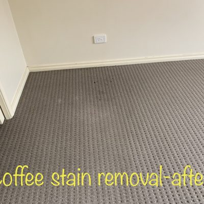 Coffee Stain Removal - After